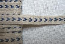 Cintas de La Croix et la Manière / Cintas  y zig zag de lino y algodón