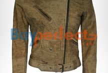 Womens Leather Jackets / Bayperfect Womens Leather Jacket