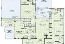 Vloerplan vir nuwe huis