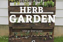 Pallet herb gardens