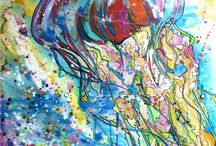 jellyfish artwork by Jen Callahan #jenartwork