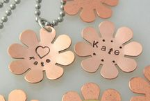Hand Stamped Jewelry / Hand Stamped jewelry that will inspire any conversation.  Our artists can create, design, hand stamp and personalize jewelry including hand stamped necklaces, bracelets, and key chains.