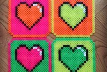 Hama Beads Hearts