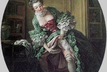 Fragonard, Boucher and Watteau / Beautiful paintings by three Rococo masters of the eighteenth century.