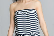 Striped Top with Basquine