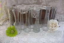 Lace, Burlap and Vases
