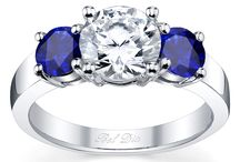 Sapphire Accented Engagement Rings / Diamond engagement rings that feature sapphire accents.