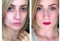 Before And After / make-up tests I did on myself