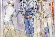 Stroje męskie XIVw    Male garments XIV century