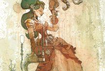 Brian Kesinger steampunk artworks