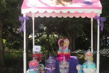 Doc McStuffins / Birthday party and Julie's Party Cart created Doc McStuffins themed cart!