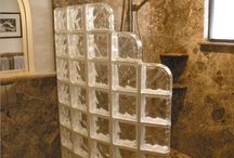 glass brick shower wall