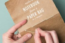 make note book with paperbag