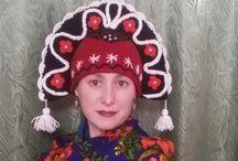 Knitting / вязаная шапка-кокошник выручит в любой праздник. Дизайн тематический.