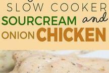Crockpot sour cream chicken