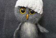 felted owl /  Игрушки из шерсти
