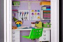 Home art studio ideas / A board of inspiration for when I one day get my own home office and art studio.