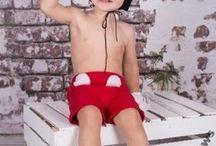 Myszka Miki - ubranko, kostium do dziecięcych sesji foto / Strój Mikiego szyję na zamówienie, więc rozmiar jest dowolny. Może służyć nie tylko na sesje dziecięcą, ale również na bal przebierańców.