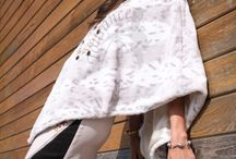 Fur Ponchos - Snow Leopard Grey - Perfect for a Beach Afternoon
