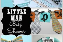 Boy baby shower ideas / Lucas' little man themed baby shower