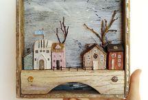 панно домики