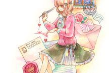 Art ♡ Watercolor anime