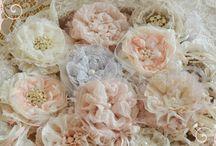 Цветы из ткани, лент, кожи, фетра