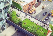 Aerial Photos of the High Line / Aerial photos of the High Line, a public park built on a 1.45-mile-long elevated rail structure that runs from Gansevoort Street to 34th Street on Manhattan's West Side.