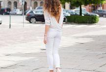 Woman in White pants
