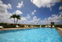 Napu Pool. / DID YOU KNOW? Holiday Resort & Spa has a pool. Located on the 5th Floor, you have the pleasure of soaking in the sun or watching Guam's beautiful sunsets with a drink in hand that was purchased from Minimini gift shop located in our Lobby.