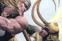 For Asgard / Thor, Loki, Odin, & others / by Timothy Medlin