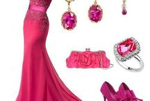 Evening Dress Combinations / Combination of dress, shoes and other accessories