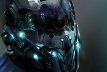 CP Roboty, kombinezony, pancerze