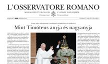 NEWS -- L'OSSERVATORE ROMANO / http://www.osservatoreromano.va/en