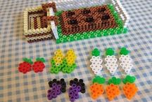 Perler Bead patterns / 2D and 3D. Can also be used for cross stitching.