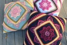 Crochet and Knitted Pillows