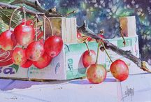 Peinture de fruits