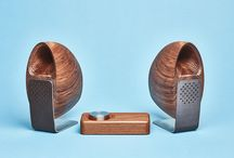 Speakers / Designed in collaboration with industrial designer Joey Roth, the Grovemade Speakers and Amp are carved from solid domestic hardwood and feature a back-loaded horn design.