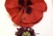 υφασματινα λουλουδια