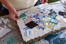 Art tile making
