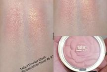 Blush and swatches