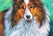 Shetland Sheepdog Art by Lyn Hamer Cook / My art of the Shetland Sheepdog.