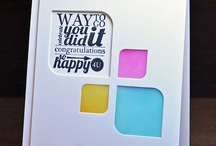 Cards Negative die cut / by Aletta Heij