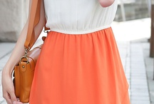 bianco e arancione