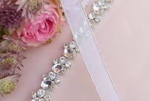 wedding sash belts / Some pretty wedding sash belts made from crystal and sometimes pearls. Beautiful on simple wedding dresses.