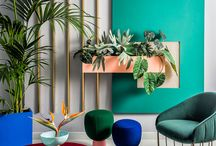 Colorful architectural interior