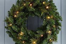 Christmas Decoration Wreath Illuminated