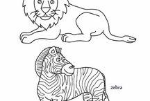 """Πατρόν """"Ζώα της Ζούγκλας"""""""