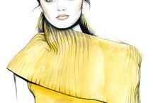 fashion illustration - Caroline Andrieu