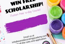 WIN A FREE SCHOLARSHIP! / Win a scholarship program and learn our secrets in 2 weeks! Email us at info@eventdecoratingacademy.com for more information about the contest.
